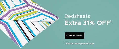 Bedsheets: Extra 31% Off