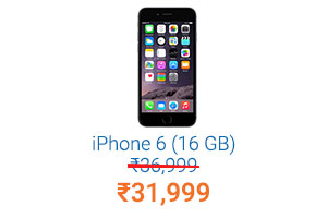 iPhone 6 (16 GB) Rs.36,999