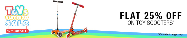 Flat 20% off on Toy Scooters, Range starts from Rs. 1000 only on Flipkart. com