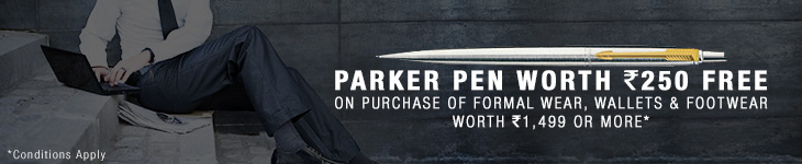 Clothing/Footwear/Wallets- Free parker pen