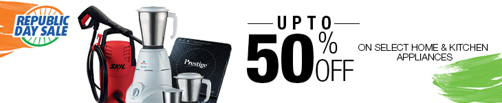 Upto 50% Off on select Home & Kitchen Appliances