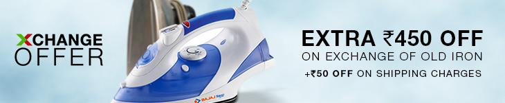 Exchange your Old Iron with New Bajaj at Flipkart & Get Rs 450 OFF