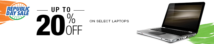 Upto 20% Off on select Laptops