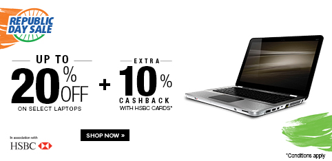 Select Laptops - Upto 20% off
