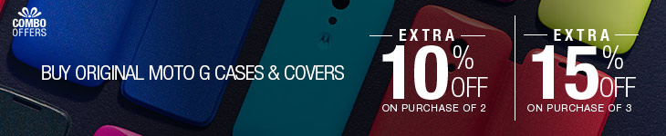 Extra 15% Off on original Moto G Cases & Covers