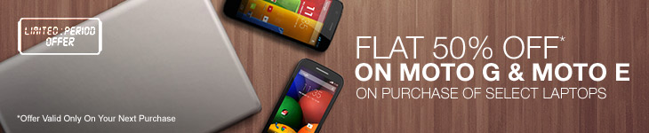 Buy HP Laptop Starting At Rs 22,300 And Get Flat 50% Off On Moto G | Moto E Mobile