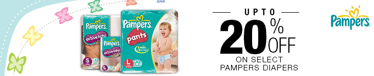 Buy Pampers Active Baby Taped Diapers Starting at Rs 239 off from Flipkart