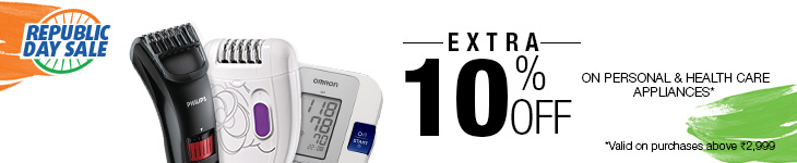 Extra 10% Off on buying Personal & Health Care Appliances worth Rs 2999 or more