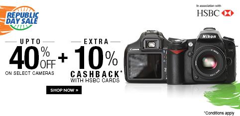 Cameras - Upto 40% off