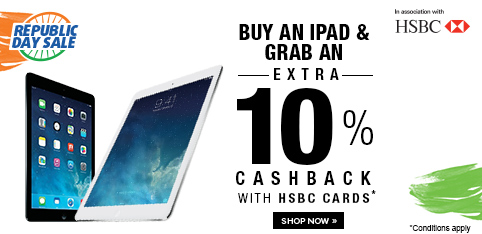 iPads  - Extra 10% off on HSBC Cards