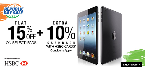 Select iPads - Flat 15% off