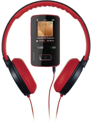 Buy Philips GoGear ViBE MP4 Player / DJ Headphones 4 GB MP4 Player: Home Audio & MP3 Players