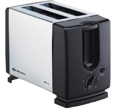 Buy Bajaj ATX 3 Auto Pop 2 Slices SS Pop Up Toaster: Pop Up Toaster