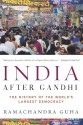 India After Gandhi: The History Of The World's Largest Democracy: Book