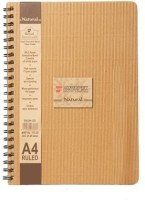 Bilt Matrix - Natural A4 Notebook Spiral Bound: Diary Notebook
