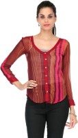 Yepme Casual Full Sleeve Striped Women's Top