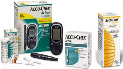 Accu-Chek Active Glucometer (110 Strips, Black)