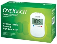 Top 8 Best Glucometers In India - OneTouch Select Simple Glucometer with 10 Test Strips Glucometer(White) Flipkart Deal