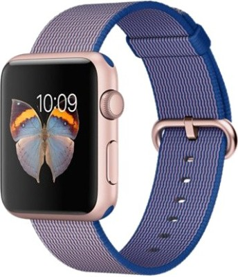 Deal of the Day – Buy Apple Watch Sport 42mm Rose Gold Aluminum Case with Royal Blue Woven Nylon Rose Gold Smartwatch at Price 20,900