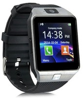 Shan DZ09-52 Bluetooth with Built-in Sim card and memory card slot Compatible with All Android Mobiles Silver Smartwatch(Black Strap Regular) Flipkart Rs. 990.00