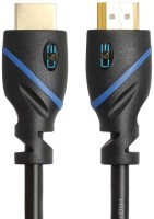 C&E HDMI Cable-CL3 Certified-Supports 3D and Audio Return Channel, 6 Feet HDMI Cable(Black) Flipkart Rs. 529.00