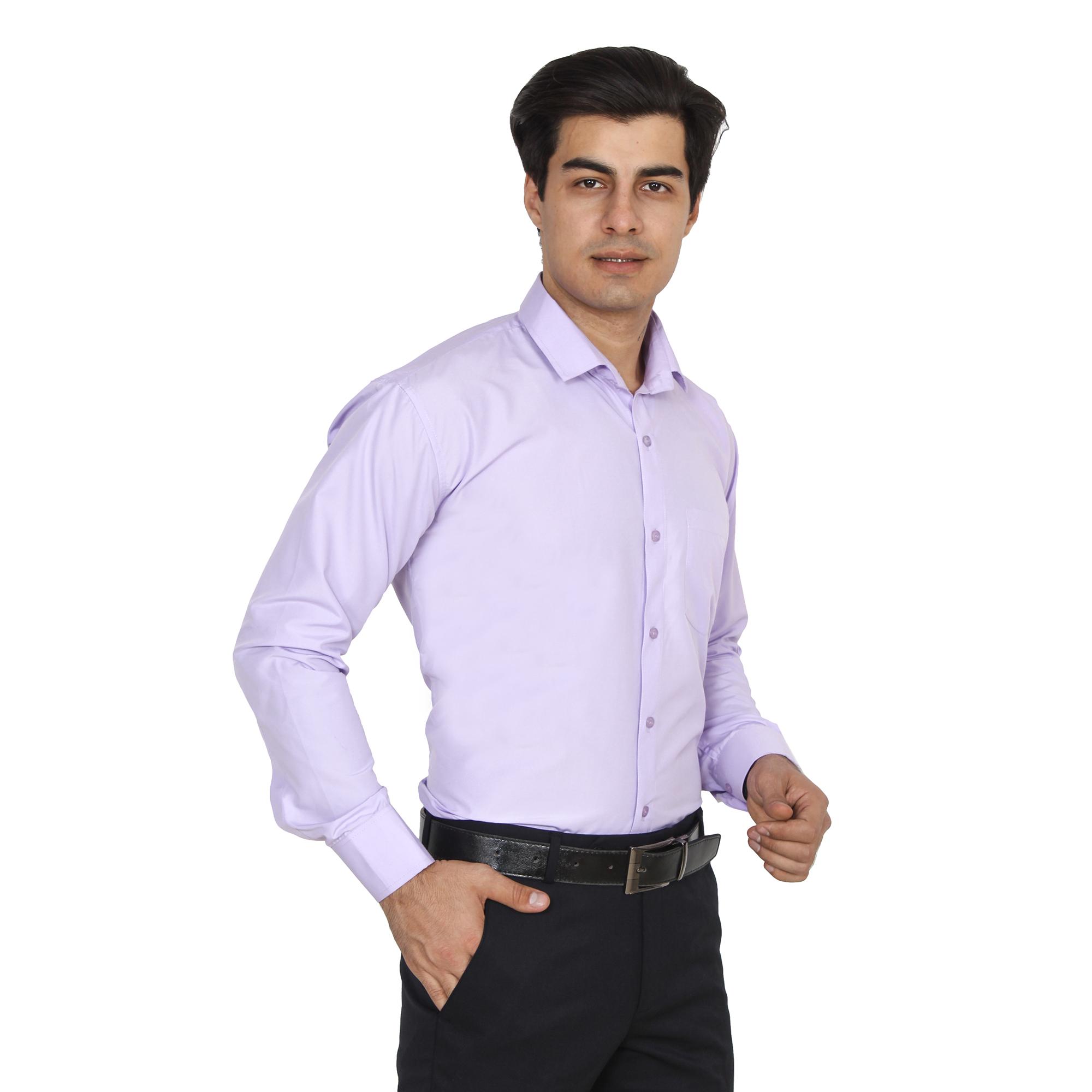 Men Formal Shirt Color Light Purple
