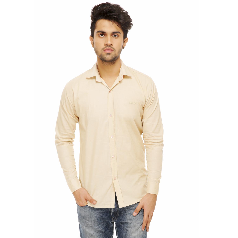Men Formal Shirt Color Beige