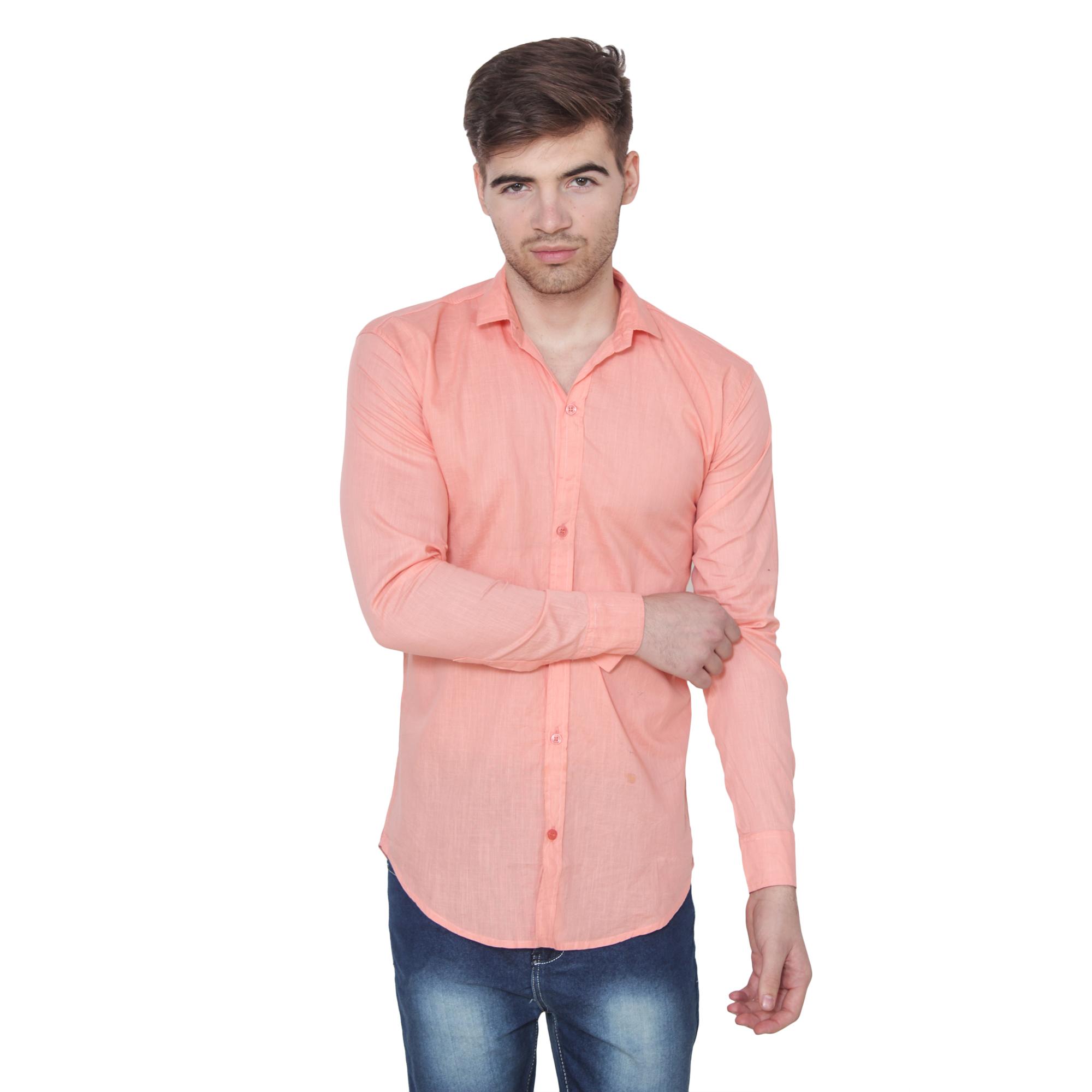 Men Formal Shirt Color Pink