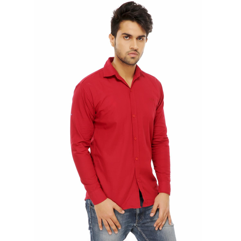 Men Formal Shirts  Color Red