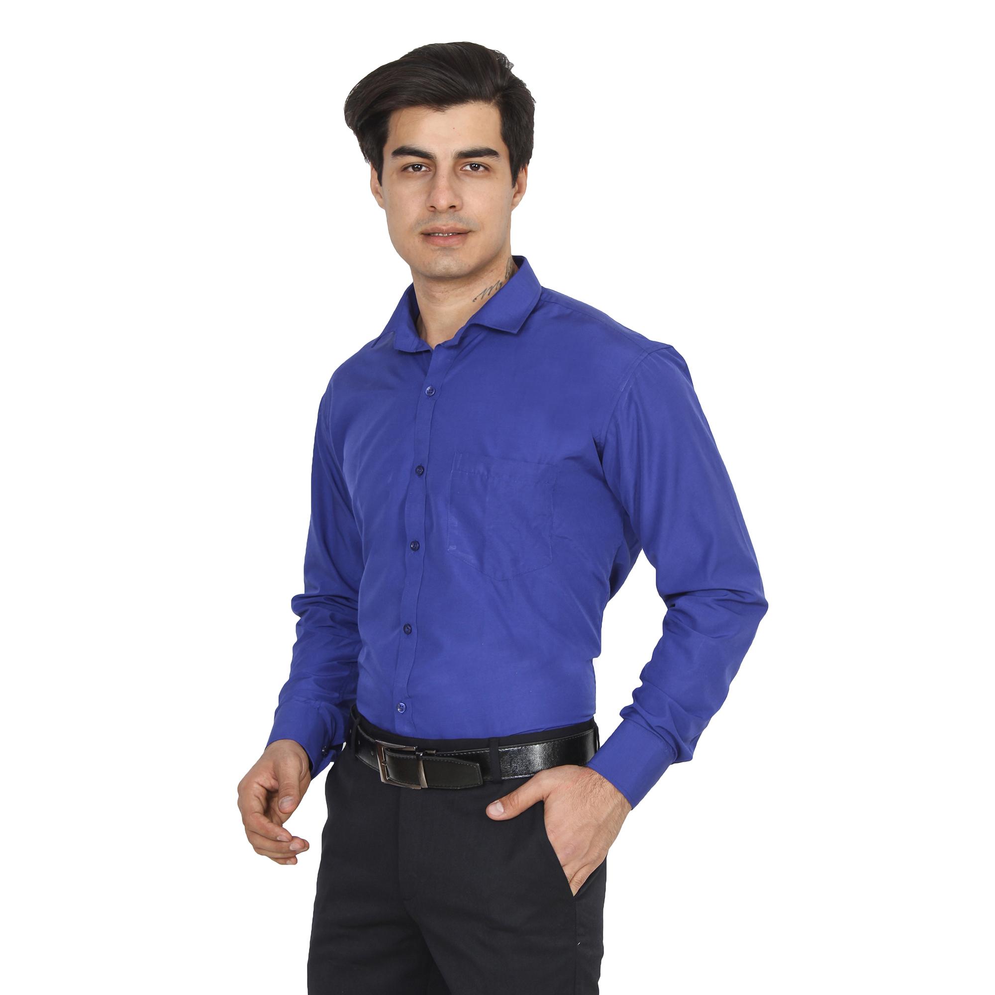Men Formal Shirt Color Royal Blue