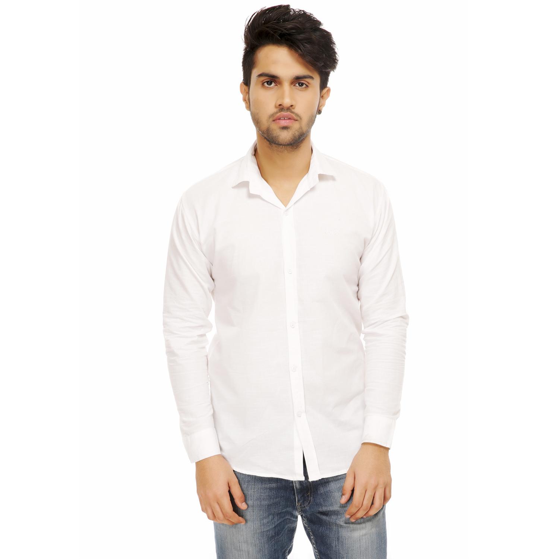Men Formal Shirt Color White