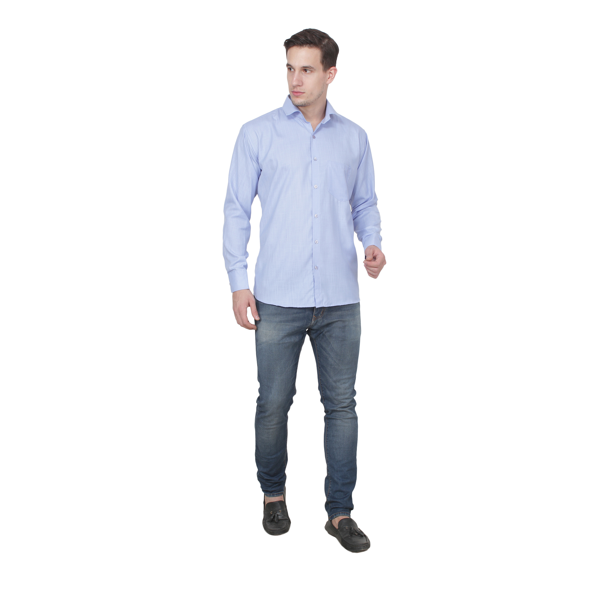 Men Formal Shirt Color Light Blue