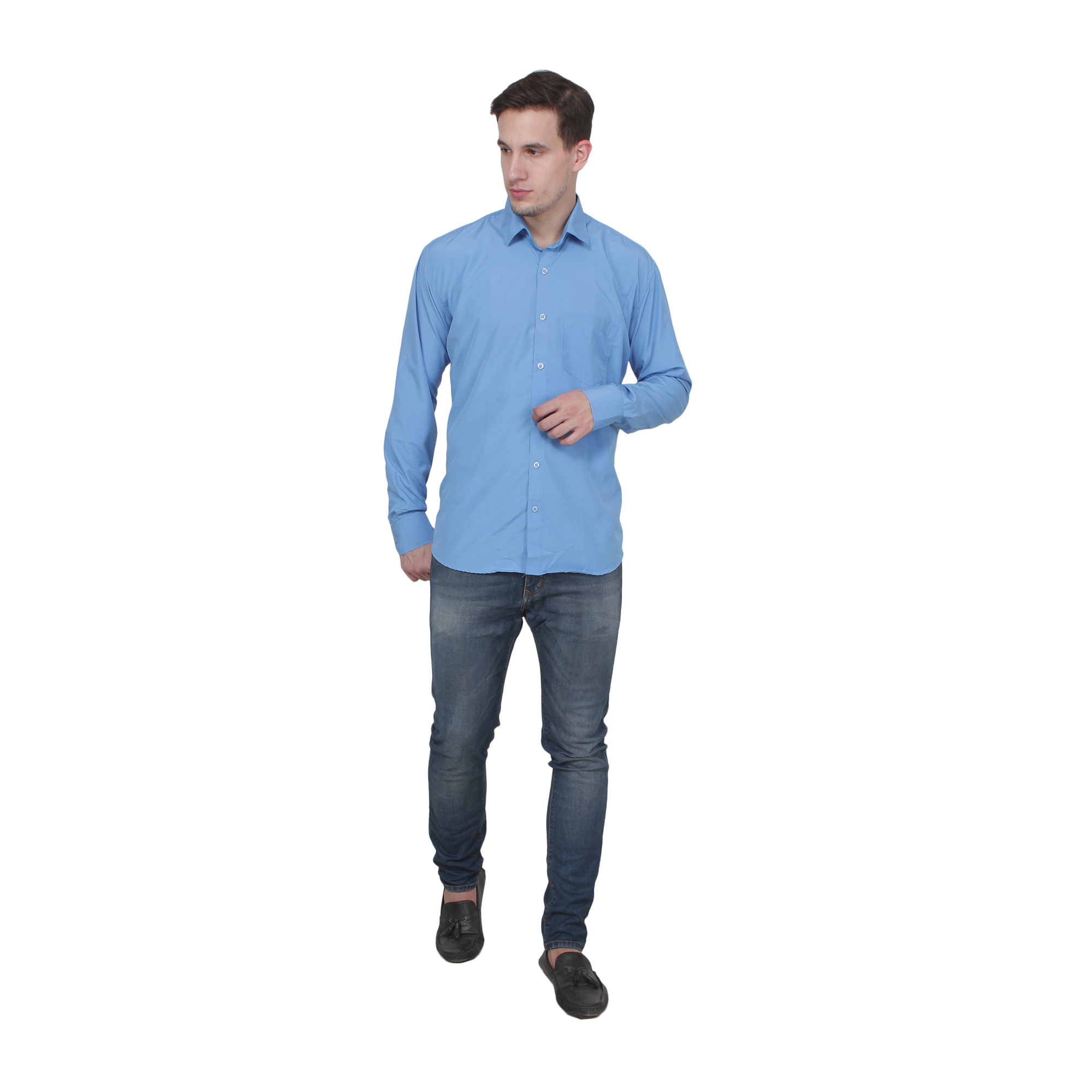 Men Formal Shirt Color Sky Blue