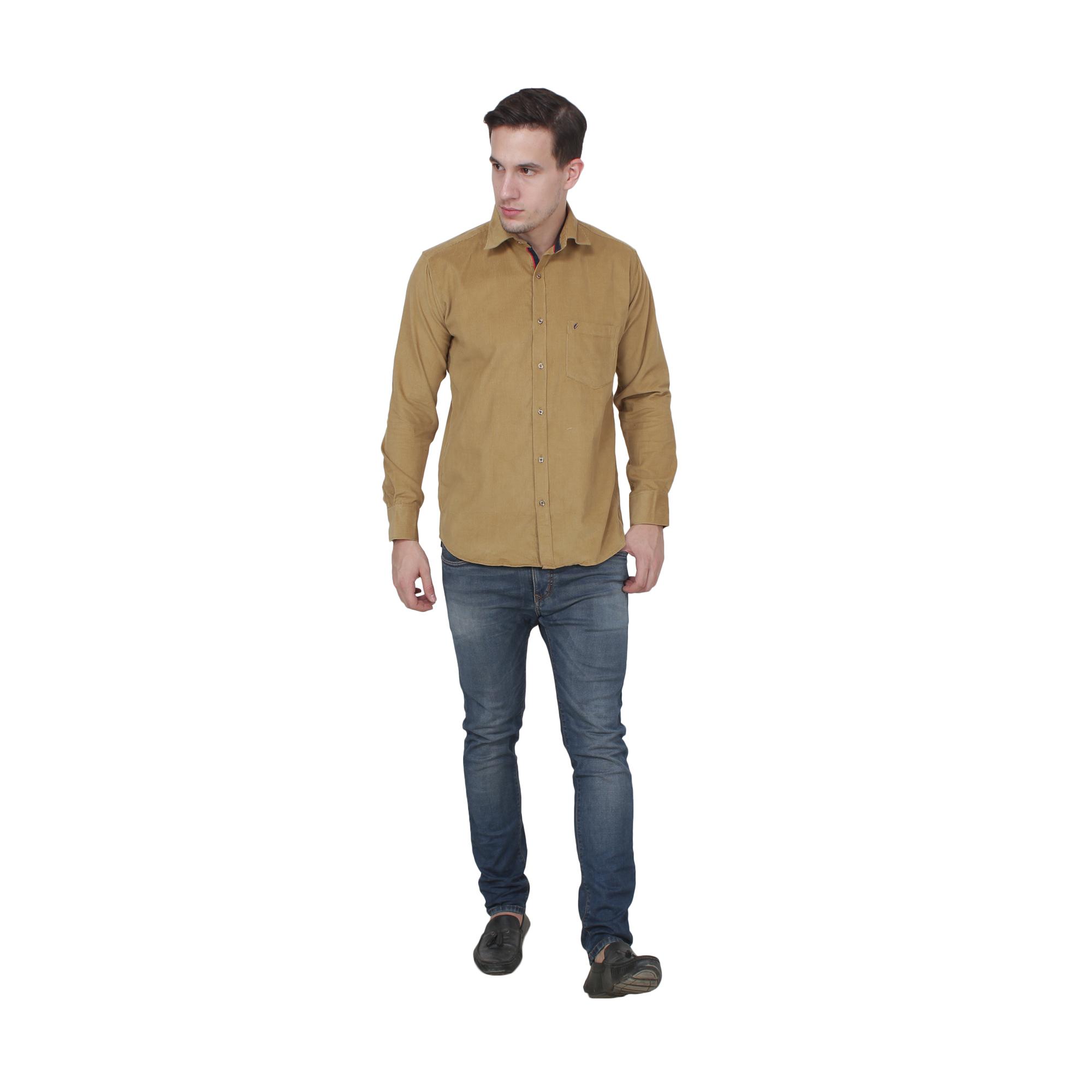 Men Cottorized Shirts  Color Creame