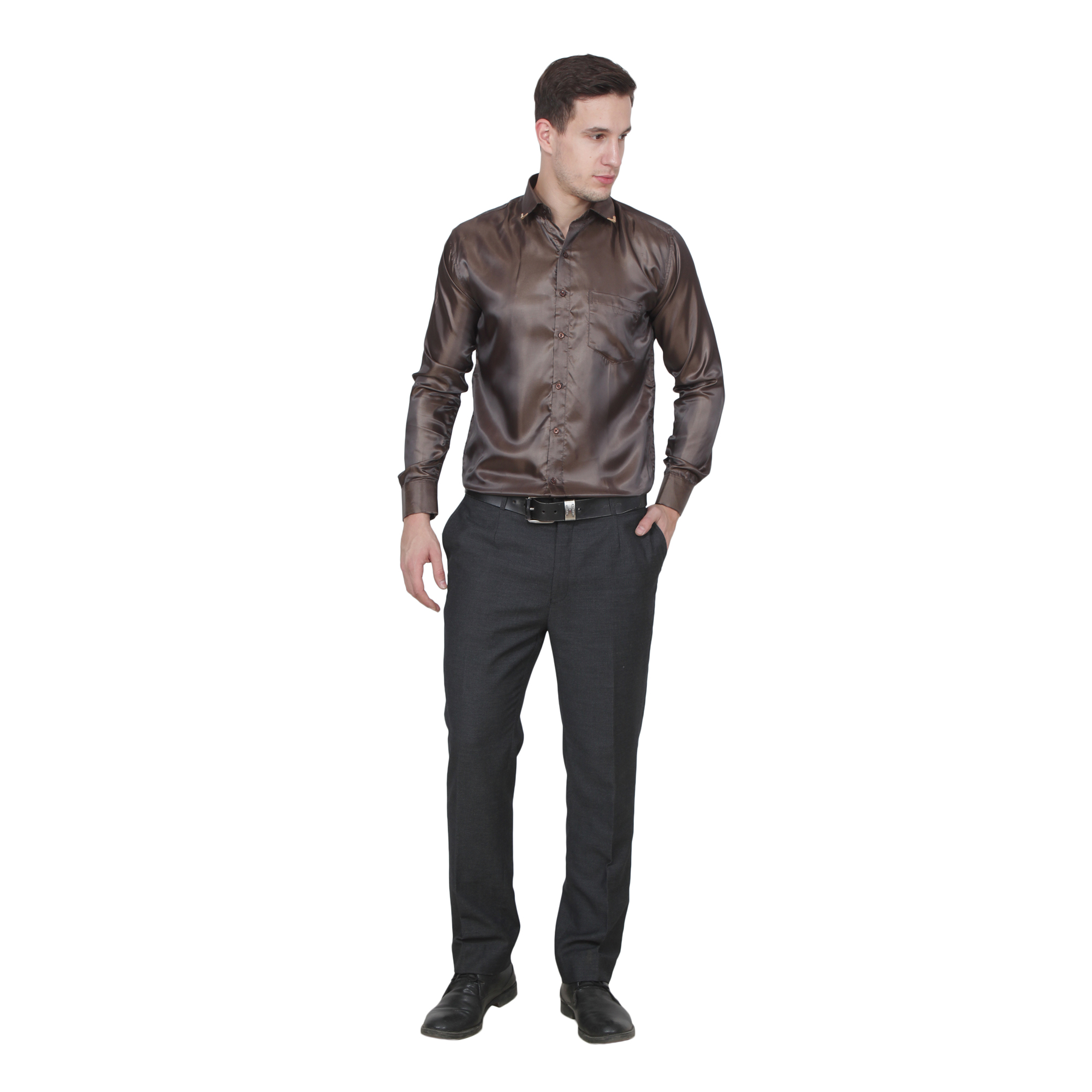 Men Party Wear Shirts  Color Maroon