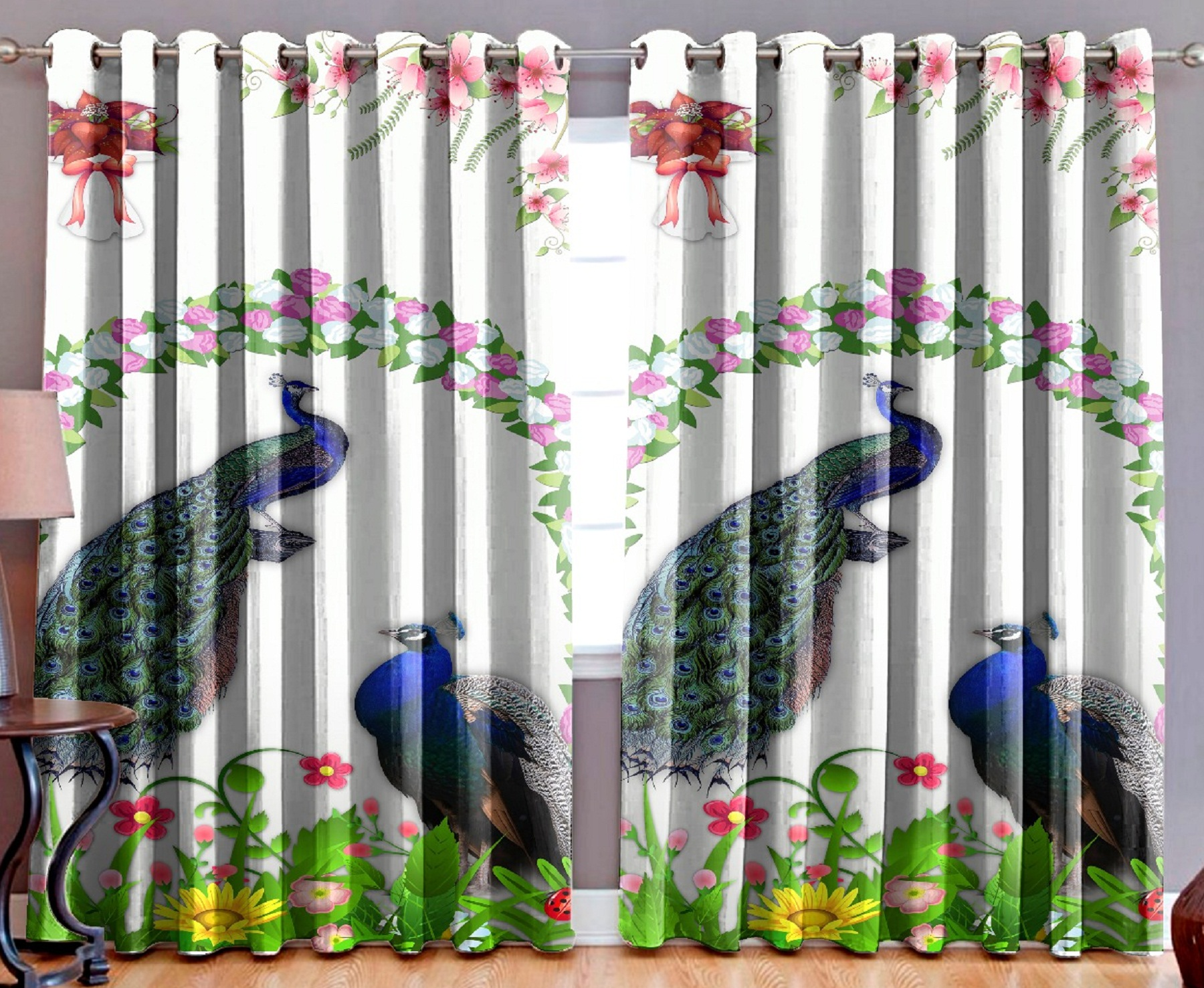 AKR CREATION Heavy long crush door size Curtain 213 cm (7 ft) Pack of 2