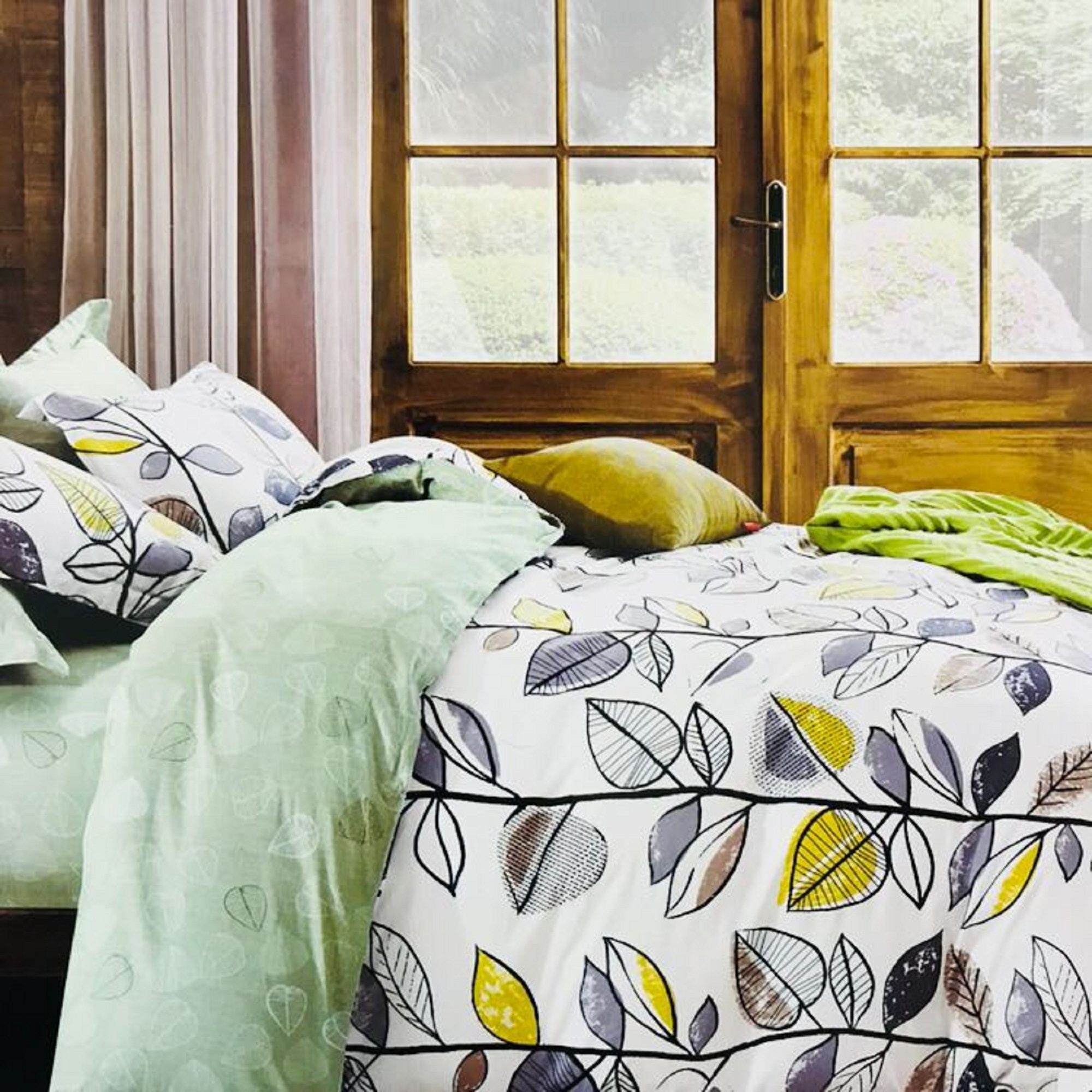AKR CREATION COTTON Bedsheet king size 108 Inch X 108 Inch  (1 Double Bedsheet, 2 Pillow Covers)