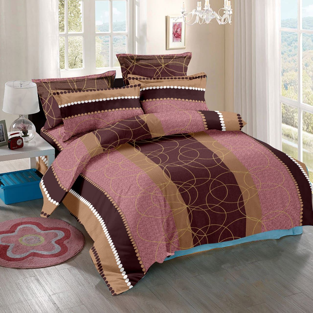 AKR CREATION BOMBAY DYING DOUBLE Bedsheet king size 108 Inch X 108 Inch  (1 Double Bedsheet, 2 Pillow Covers)
