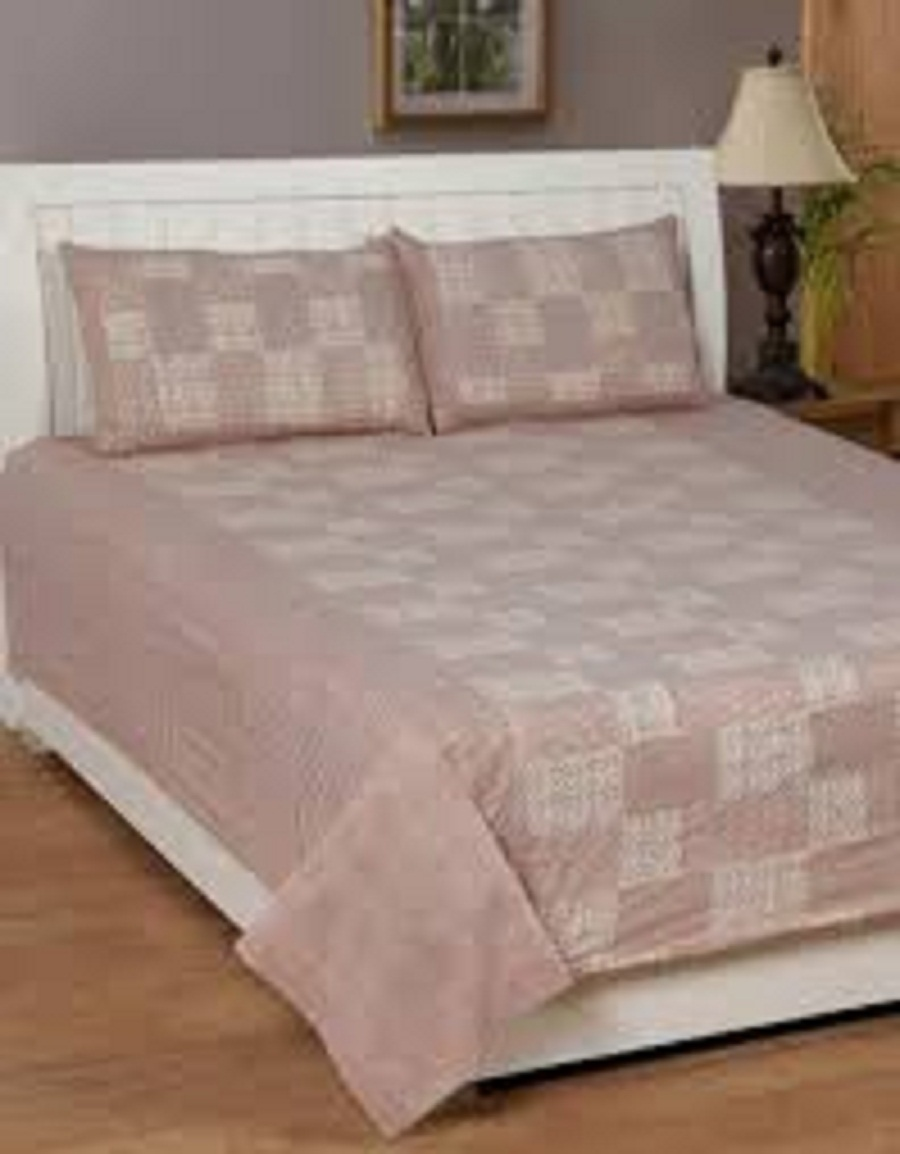 AKR CREATION COTTON QUEEN DOUBLE Bedsheet king size 90 Inch X 100 Inch  (1 Double Bedsheet, 2 Pillow Covers)
