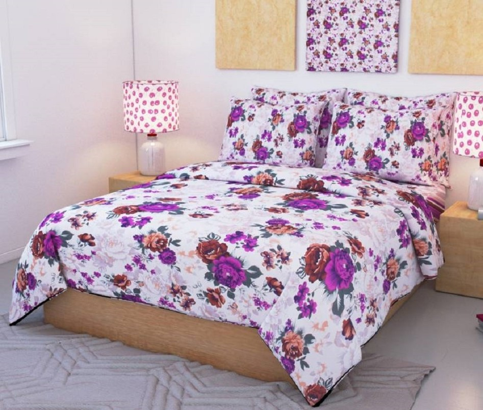 AKR CREATION COTTON DOUBLE Bedsheet king size 90 Inch X 90 Inch  (1 Double Bedsheet, 2 Pillow Covers)