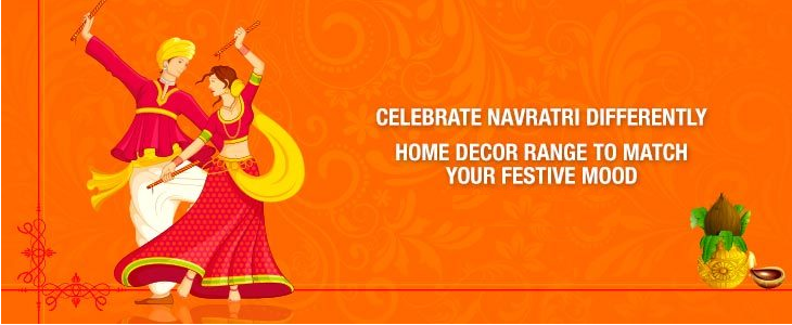 All mailers this garba season enjoy the navratri offers for Home decor offers