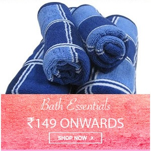 Home Mega Sale - Bath Essentials starting from Rs. 149