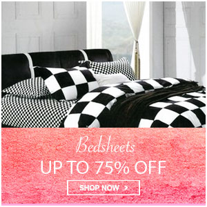 Upto 75% Off on bedsheets