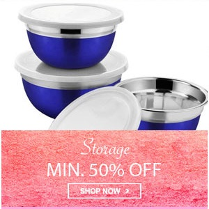 Home Mega Sale - Minimum 50% off on storage