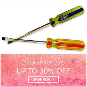 Home Mega Sale - Upto 30% off on screwdriver sets