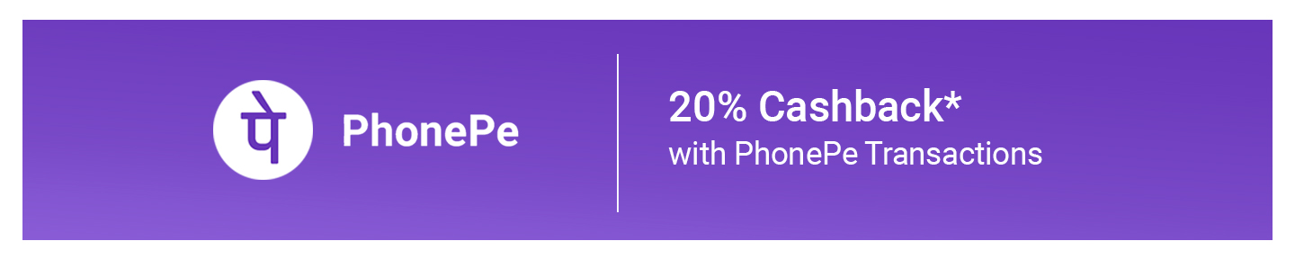 20% Cashback on payments via PhonePe