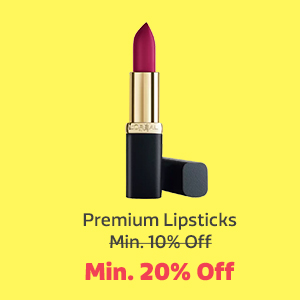 Premium Lipsticks at Min. 20% Off