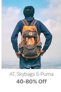 AT, Skybags and Puma up to 80% Off
