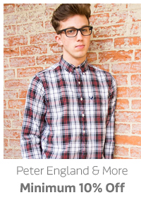 Peter England and more Min.10% Off