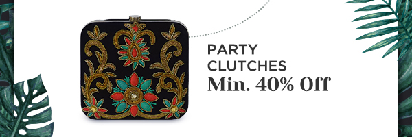 Party Clutches Min.40% Off